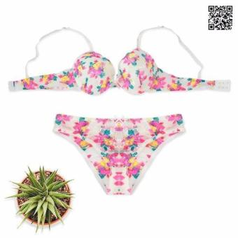 Bộ áo ngực họa tiết hoa nổi Printed Floral Underwired Bra with Brief