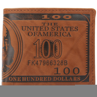 Men Short Wallet PU leather Multifunctional Purse Billfold Card Holder Light - Intl