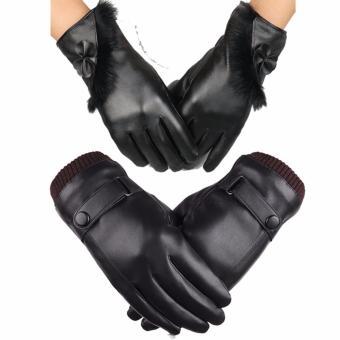 Cặp đôi găng tay tình yêu (Đen)