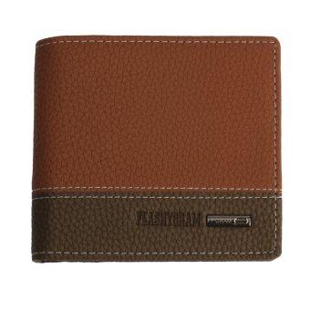 Teamtop Leather Bifold Money Wallet Coin Purse Clutch Pockets Orange - intl