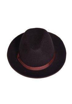 Mũ phớt nỉ thời trang nam vành rộng SALOME FASHION (Nâu)