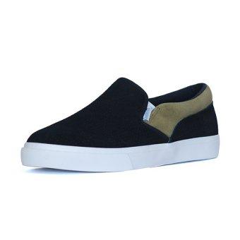 Giày Lười Slip-on QuickFree Lightly da bò Suede Nam M160301-F08 (Đen/Rêu)