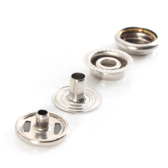 Snap Fasteners Buttons (Silver) (Intl)