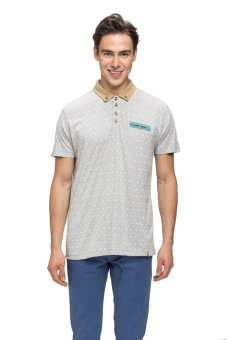 Bellfield Men's Printed Polo Shirt Grey