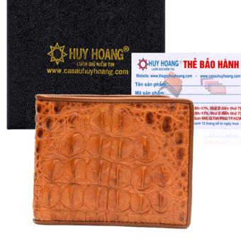 HL2212 - Bóp nam Huy Hoàng da cá sấu gai lưng màu vàng