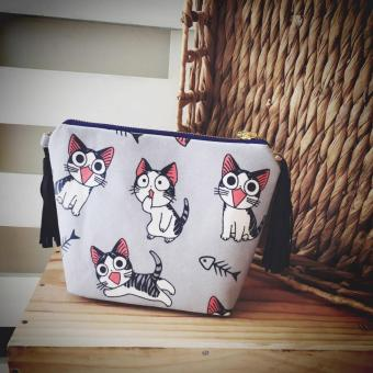 Crossbody Bag Họa Tiết Mèo Chi Trum Bo Handmade CBB24 - Boho