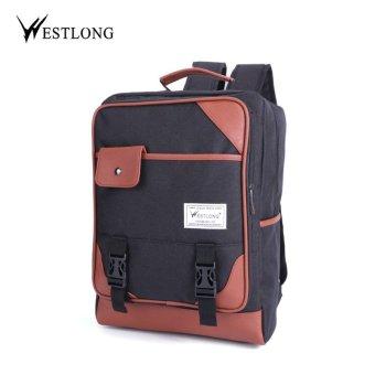 WESTLONG 2016 New Men Backpack Portable Cloth Material 3 Colors Travel Bags Men's Backpacks Female Casual Sport Bags Oxford Backpcks Black - intl