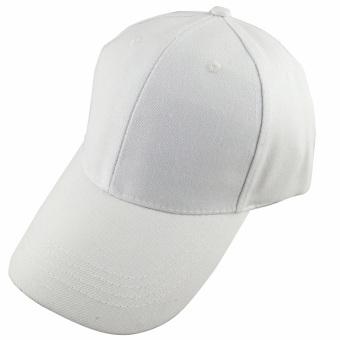 Men Women Outdoor Baseball Caps Adjustable Sun Visor Hat White - intl