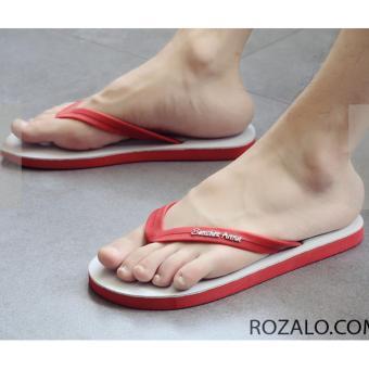 Dép kẹp cao su xỏ ngón nam Rozalo RM2498WR- Đỏ