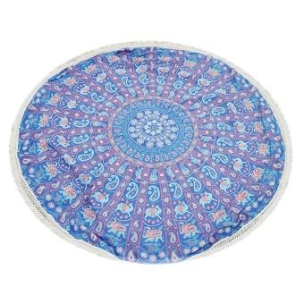 Summer Beach Towels Bohemian Style Floral Tassels Blanket Yoga Mat - intl