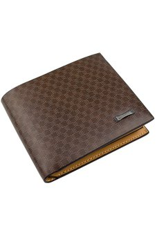 Bluelans Men's PU Leather Pocket Zipper Card Clutch Cente Bifold Wallet (Intl)