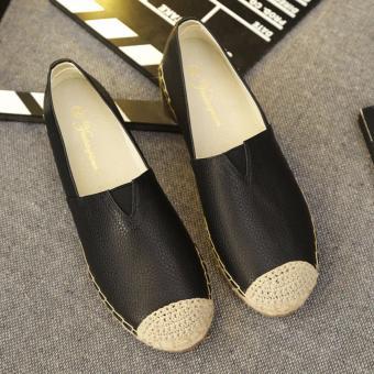 Giày slip on Giày phủi đế cói GP13 (Đen)
