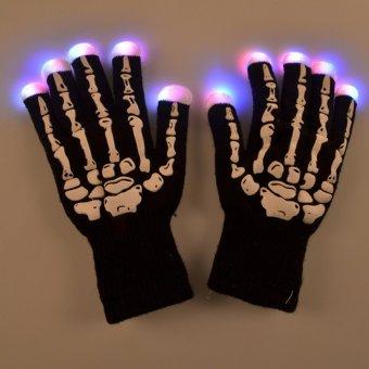 Găng tay có đèn led cho dancer, coundown (Đen)