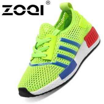 Boys Fashion Light Breathable Sport Shoes Running Shoessneaker (Green) - intl