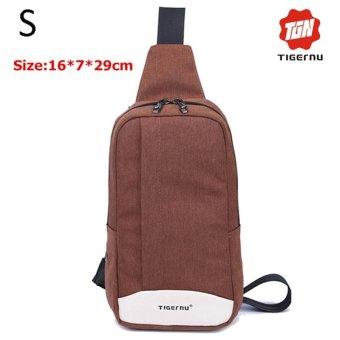 Lan-store Premium Quality Chest Bag-2017 Tigernu Brand Messenger Bags Casual Men's Travel Bags Chest Bag Pack Small Crossbody Men Women Shoulder Bag (Khaki) - intl