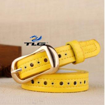Thắt lưng nữ da dập họa tiết Thành Long TL3921 2(vàng)