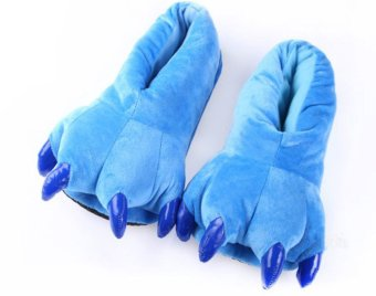 niceEshop Furry Lilo Monster Cosplay Prop Dinosaur Claw Adult Plush Slipper (Blue)