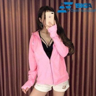 Áo khoác chống nắng tia UV Korea Store UVF1 màu Hồng (Cam kết dày dặn, vải mát) US04572