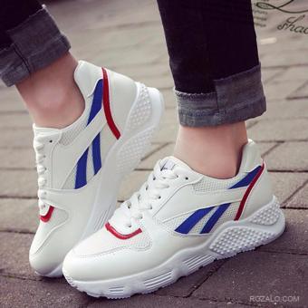 Giày sneaker thể thao nữ Sportmax SWG3503WX-Trắng Xanh