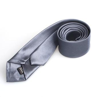 Casual Slim Plain Mens Solid Skinny Neck Party Wedding Tie Necktie Gray