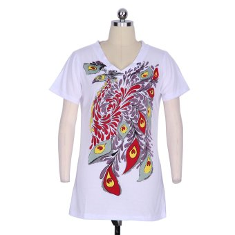 Gamiss Woman Printing Casual T-Shirt (White)--TC - intl