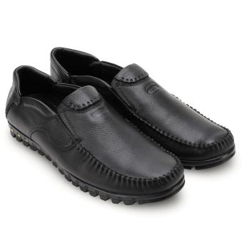 Giày lười nam da bò thật MBMO10 (Đen)
