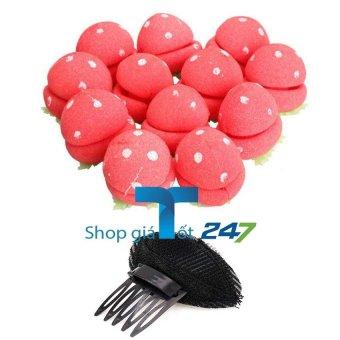 GT 247-Bộ lô 12 quả dâu +01 đệm pHồng xược