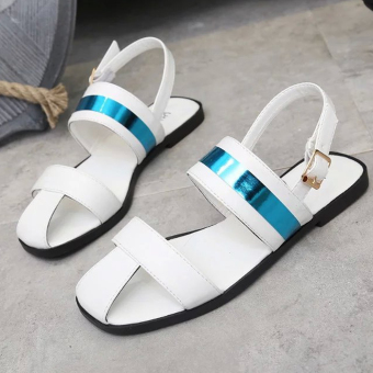 Women's Sandals With Color Matching And Tip-Binding Design(White) - intl
