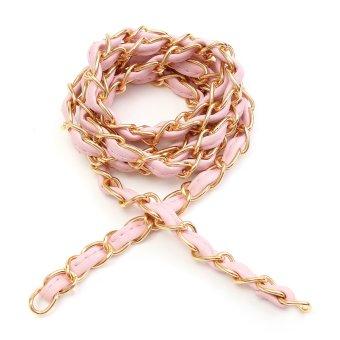 52″ Purse Bag Strap Crossbody Replacement Shoulder Handbag Handle Metal Chain Pink - intl
