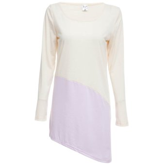 Color Block Asymmtrical Ladies Dress - Intl