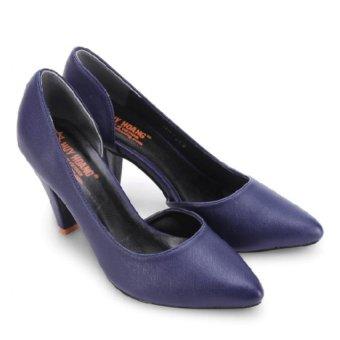 Giày nữ Huy Hoàng cao cấp xẻ hông (Xanh đậm)