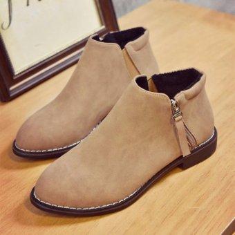 Giày bốt nữ màu nâu GBN62