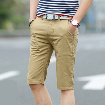 Quần shorts nam Hàn Quốc kiểu dáng sang trọng 139 (Vàng)