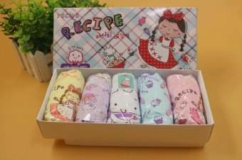 Set 5 quần lót Hàn Quốc cho bé gái Mr Kids Little Chef
