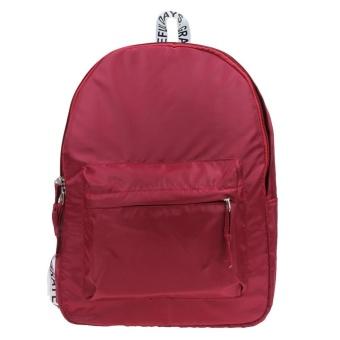 New Light weight Waterproof Nylon Leisure Backpack (Red) - intl