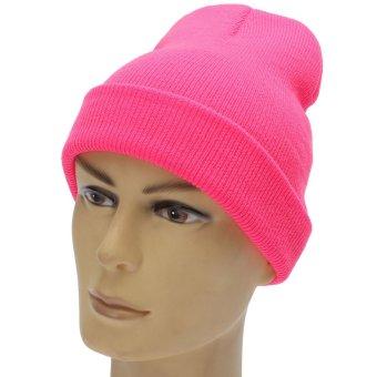 Unisex BBOY Hip-hop Wool Hats Fluorescent Knitted Turtleneck Beanies Warm Caps - Intl