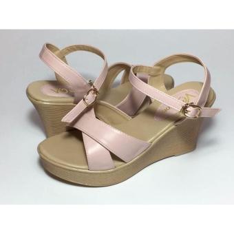Sandal xuồng màu kem phớt hồng nhạt: VO shoes