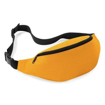 Unisex Bag Travel Handy Hiking Sport Fanny Pack Waist Belt Zip Pouch Yellow - intl