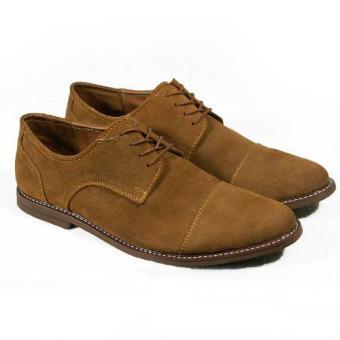 Giày casual nam cột dây màu bò
