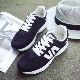 Giày sneaker thể thao nữ Sportmax SWG3506BW-Đen Trắng