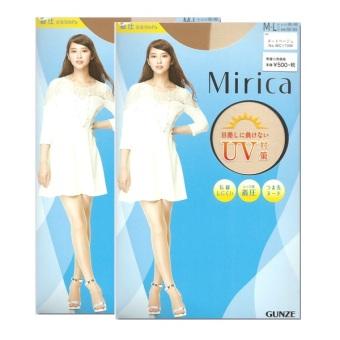 Bộ 2 quần tất hè Gunze Mirica Hikishime (Da )