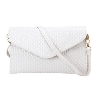 Fashion Lady Evening Clutch Shoulder Bag(White) - intl