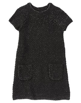 Áo váy len ngắn tay Crazy8 31675 Sparkle (Đen)
