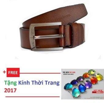 Thắt Lưng Da Nam + Tặng kính thời trang
