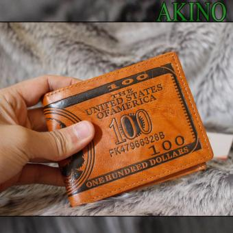 Ví da nam in hình tiền 100USD VNHT02