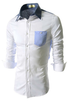 Reverieuomo CS39 Single-Breasted Shirt White - Intl