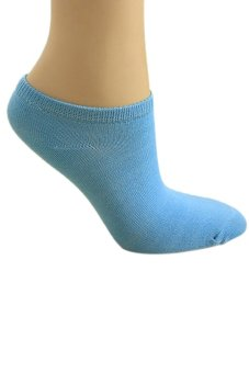 Bluelans Lady 1 Pair Ankle Socks Short Low Cut Crew Casual Sport Boat Socks Sapphire Blue (Intl)