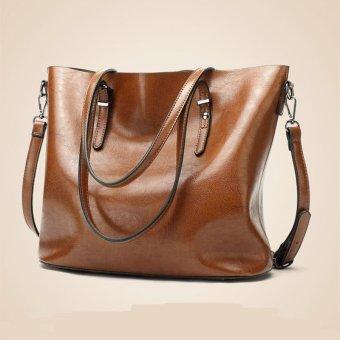 Lan-store Super Premium Quality Bag Series-2017 Women Tote Bags Buckle Bucket etc Shoulder Bag Handbag Working Bag Tote Big Bag Lady Bag Clutch Bag (Brown) - intl