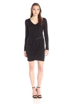 Áo đầm thun nữ DKNY Jeans Women's Scuba Pieced Dress with Zip Detail