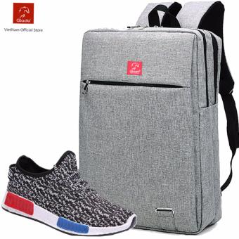 Combo Balo Cylinder BLC007GR + Giày Sneaker GS048GR (Xám) - CB010